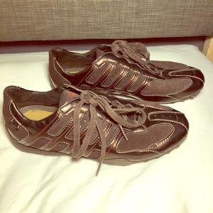Geox respira sneakers dark brown